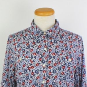 Tommy Hilfiger Floral Button Down Shirt, Size L